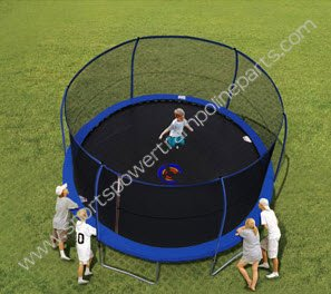 Bounce pro 14 ft sportspower trampoline review - YouTube
