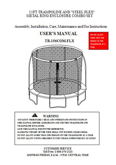 New Instructions For Assembling A Trampoline