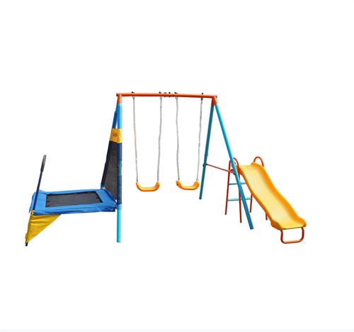 Sportspower Metal Swing Slide And Trampoline Set