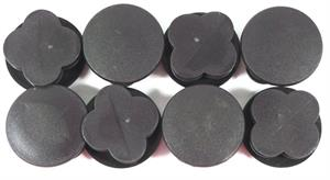End Caps (Set of 8) for 15' Square Bounce Pro TR-1515SQ-RE